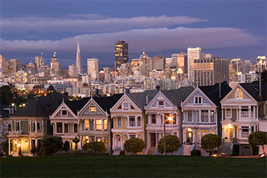 Painted Ladies of Alamo Square by Connie Louie